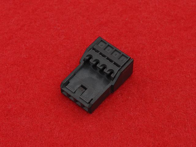 4芯クイックコネクタ黒色|汎用品(1個)