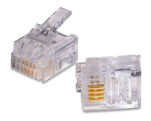 6極4芯モジュラープラグ|汎用品(10個)