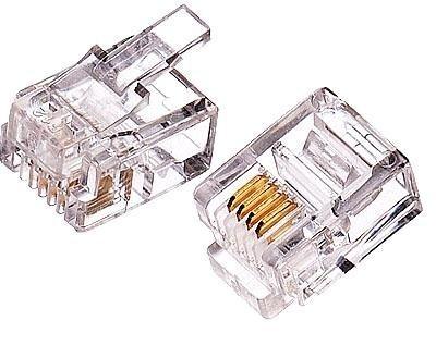 6極2芯モジュラープラグ|汎用品(10個)