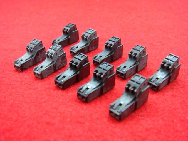 2芯クイックコネクタ黒色|汎用品(10個)