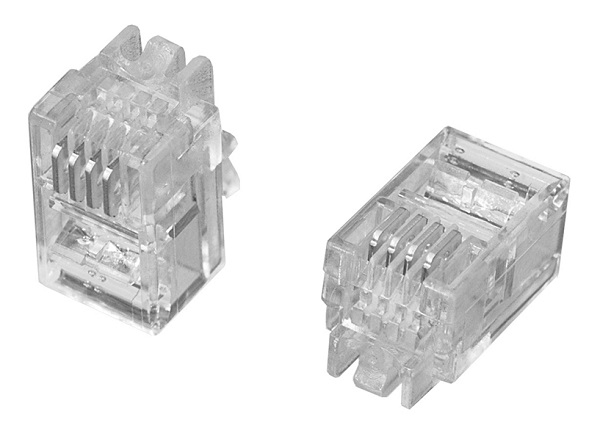 6極6芯モジュラープラグ タイコエレクトロニクス(100個)